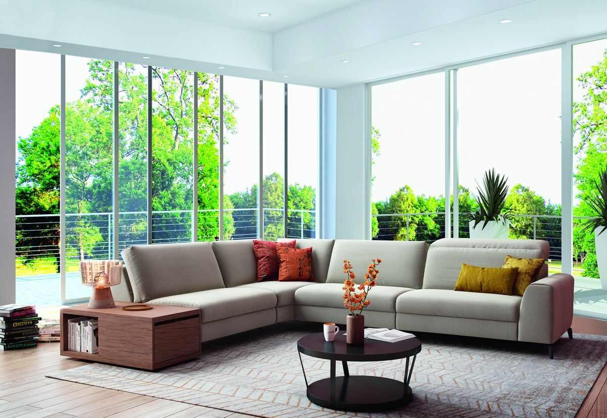 Canapé d'angle en tissu Donato