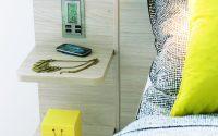 Légende : Chevet avec chargeur induction intégré