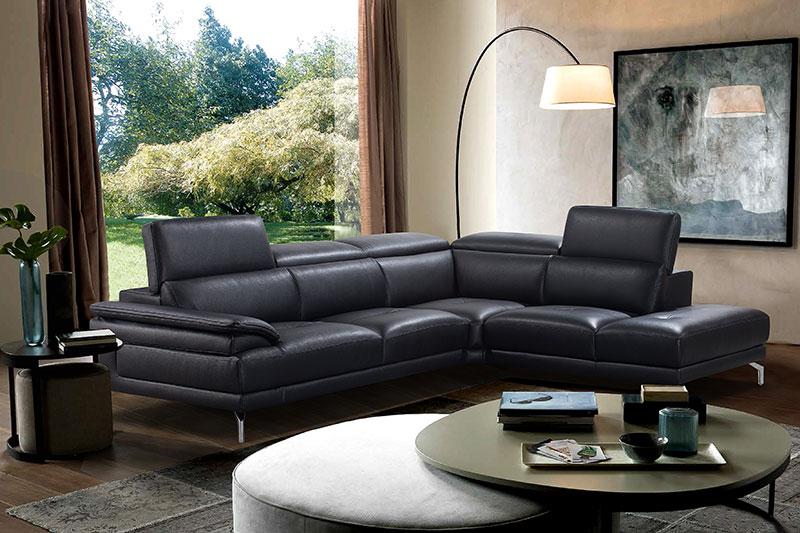 Canapé d'angle en cuir BALTIMORE