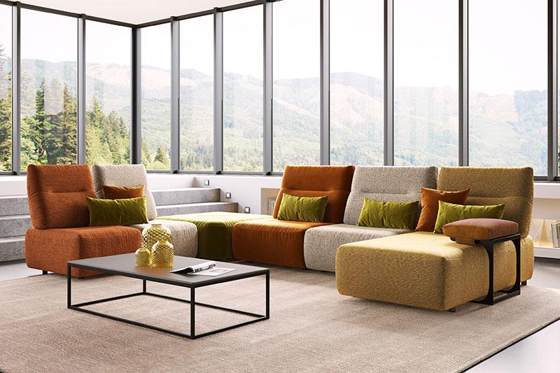 Canapé d'angle modulable VEGAS