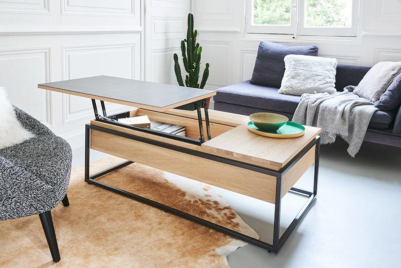 Table basse plateau relevable ARIZONA