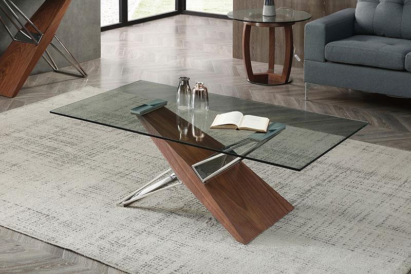 Table basse en verre FELICIA l'Ameublier