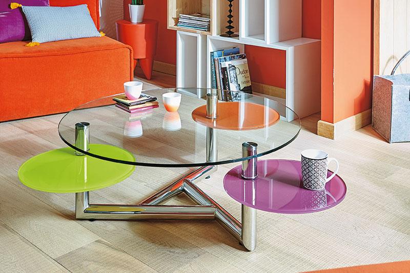 Table de salon en verre MANHATTAN l'Ameublier