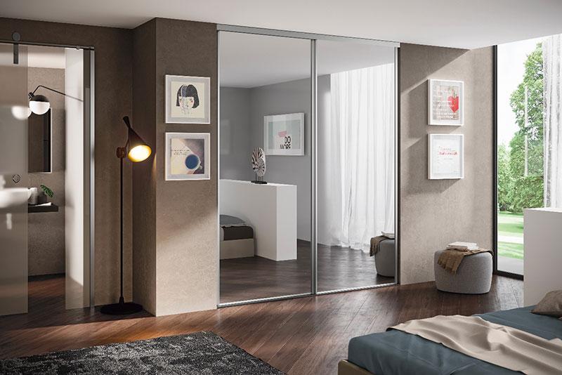 Dressing à portes coulissantes miroir l'Ameublier