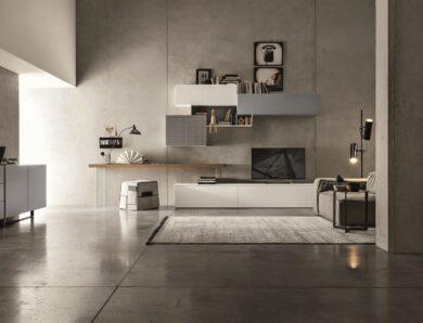 4 modèles de meubles TV déstructurés pour un salon contemporain